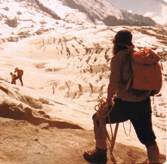 mont blanc 1 Cruzando el Glaciar de Bossons