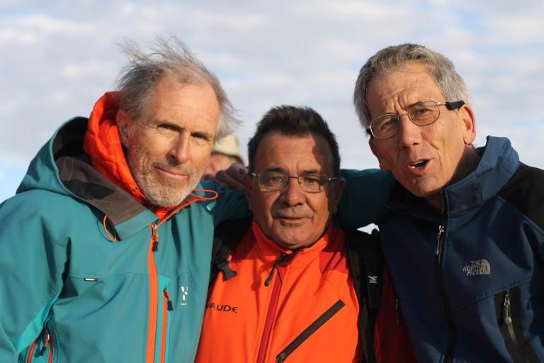 Con Fran y Juan