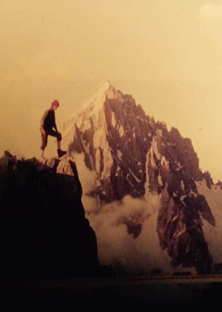 Morten con el Mt Dolent al fondo 1978